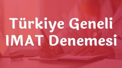Türkiye Geneli IMAT Deneme Sınavları